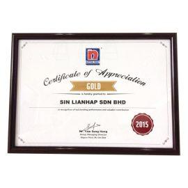 Nippon Paint Appreciation Certificate